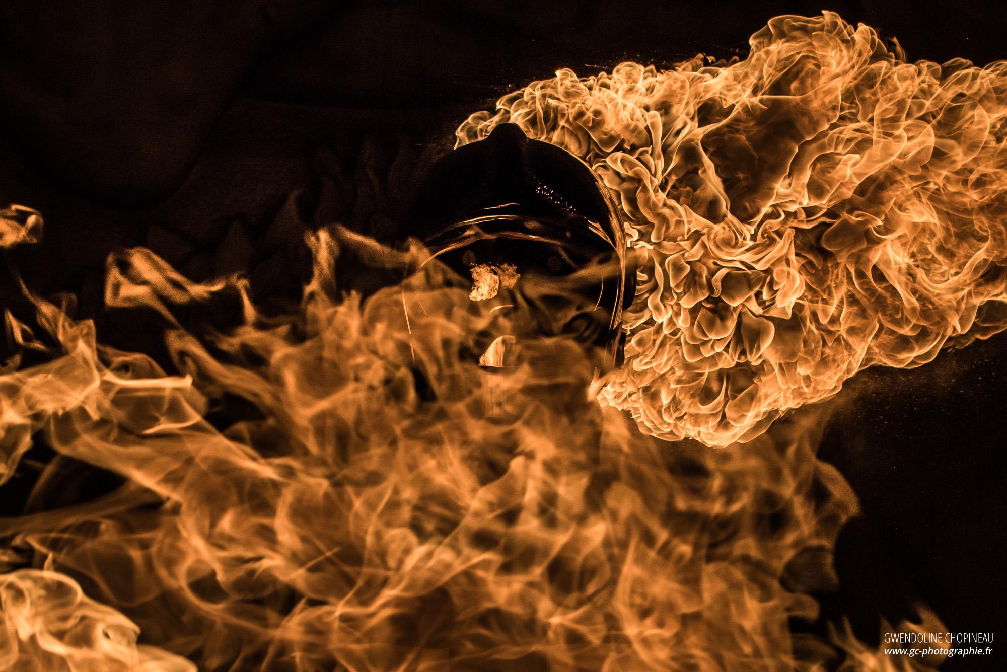 Sapeur pompier feu flyer