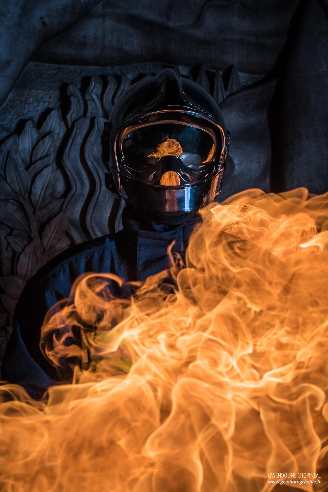 Sapeur pompier feu fond d'écran