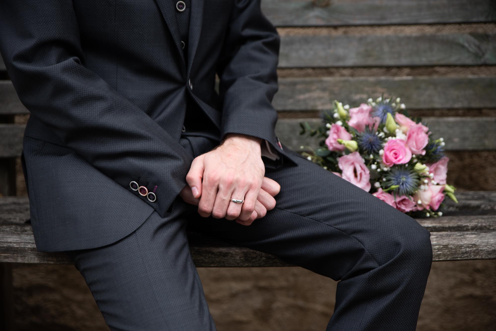 photo du marié lors d'un mariage ile-de-france
