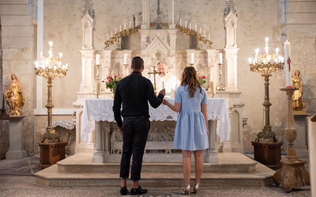 Photos de baptême à l'église de Saint-Vrain 91